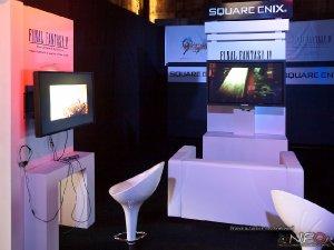 Stoisko dla CENEGA POLAND dystrybutora gier Final Fantasy firmy SQUARE ENIX