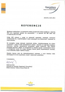 Referencje - British American Tobacco Polska