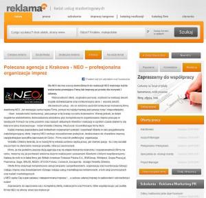 http://www.reklama.pl/news/polecana-agencja-z-krakowa-neo-profesjonalna-organizacja-imprez,28