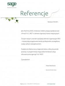 Referencje - SAGE Sp. z o.o.