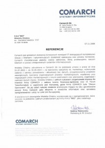 Referencje Comarch
