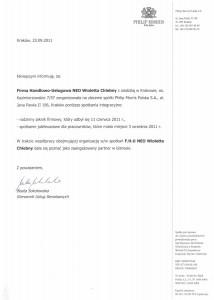 Rekomendacje gala 2011 - PHILIP MORRIS POLSKA S.A.
