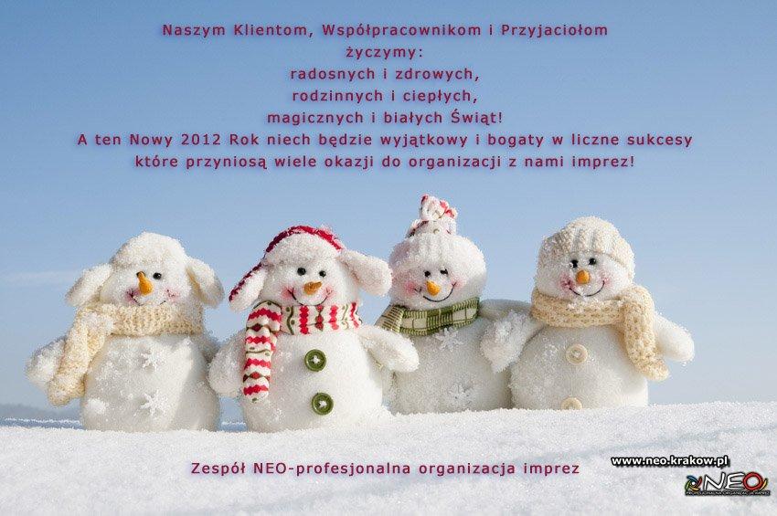 Życzenia świąteczno-noworoczne 2011/2012