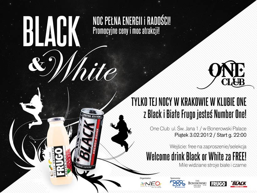 Zaproszenie na Wyjątkową Noc Black&White w Klubie ONE !