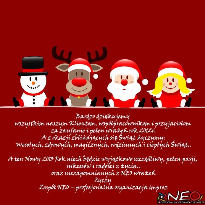 Życzenia świąteczne i noworoczne 2012-2013