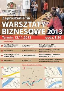 Plakat Warsztaty PMPL